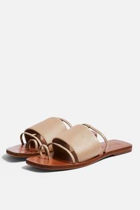 5bc10f8c8de Topshop FORTUNE Nude Flat Sandals