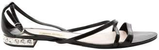 Miu Miu Black Patent leather Sandals