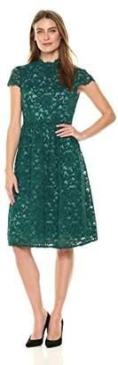 Lark & Ro Women's Lace Short Dress with Open Back