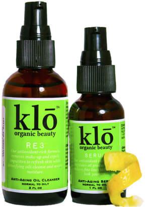 Klo Organic Beauty Anti-Aging Oil Cleanser + Serum Duo
