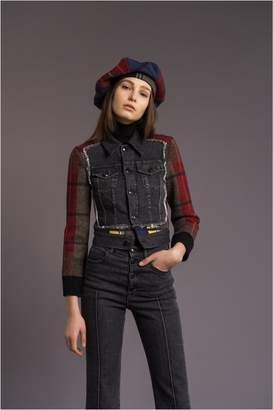 Sonia Rykiel Denim And Tartan Jacket