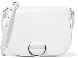 Little Liffner - D Saddle Medium Croc-effect Leather Shoulder Bag - White