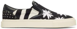 Amiri Black and White Calf-Hair Palm Slip-On Sneakers