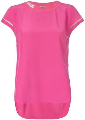 Fendi logo neck blouse