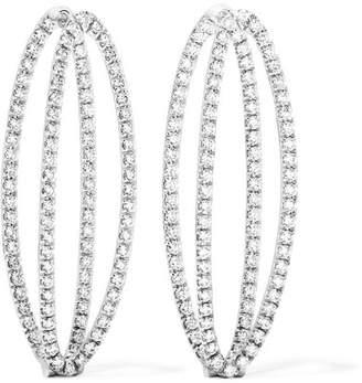 Mila Louise Melissa Kaye 18-karat White Gold Diamond Earrings