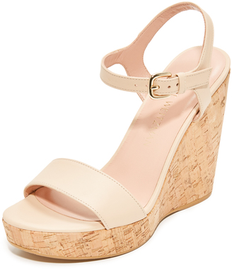 Stuart Weitzman Single Wedge Sandals $425 thestylecure.com