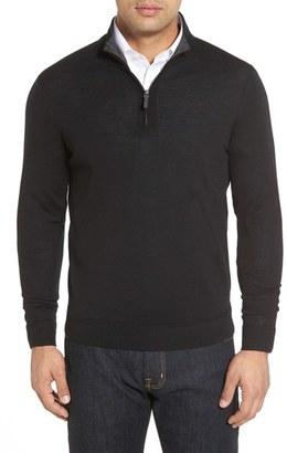 John W. Nordstrom ® Merino Wool Quarter Zip Sweater (Big) $95 thestylecure.com