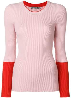 Sportmax contrast sleeve fitted sweater