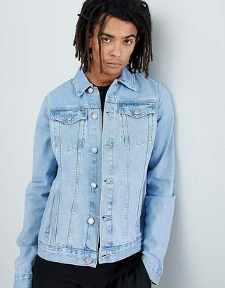 Criminal Damage Denim Jacket In Light Wash Blue