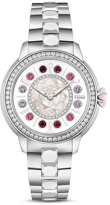 Fendi IShine Diamond & Rotating Gemstones Watch, 33mm