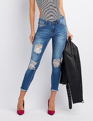 Machine Jeans Destroyed Skinny Jeans $36.99 thestylecure.com