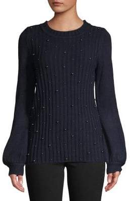 Karl Lagerfeld Paris Faux Pearl-Embellished Sweater