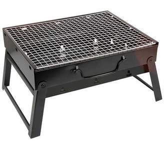 J&A BBQ Portable Grill, Small BBQ Charcoal Foldable Stainless Steel BBQ Grill Portable Table,Mini Multifunction Outdoor Cooking Tool