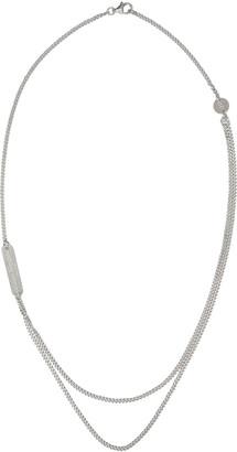 Maison Margiela Silver Double Chain Necklace $375 thestylecure.com