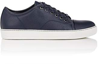Cap-toe Nubuck And Rubberised-leather Sneakers - BlackLanvin