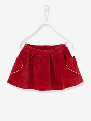 Vertbaudet Baby's Lined Velour Skirt