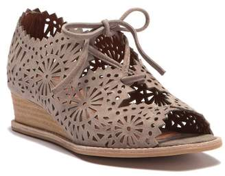 Jeffrey Campbell Espana Laser-Cut Wedge Lace Sandal