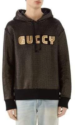 Gucci SEGA Logo Felted Hoodie