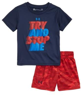 Under Armour Try & Stop Me HeatGear(R) T-Shirt & Shorts Set