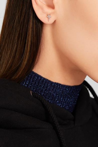 Diane Kordas Star 18-karat Rose Gold Diamond Earring