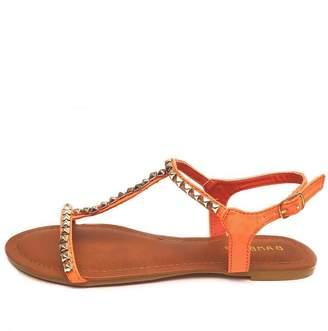 Bamboo Studded T-Strap Sandal