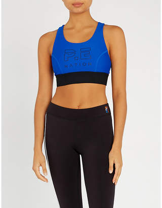 P.E Nation Groundstroke stretch-jersey crop top