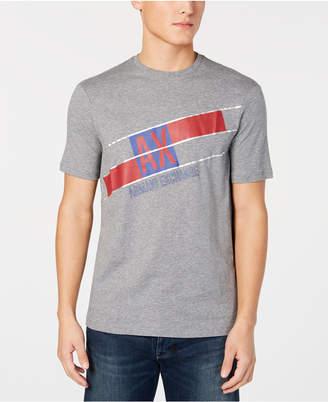 Armani Exchange Men Diagonal Logo Print T-Shirt