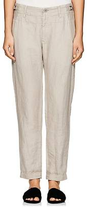 Pas De Calais Women's Herringbone-Weave Linen Pants