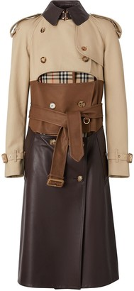 Burberry Deconstructed Cotton and Lambskin Trench Coat