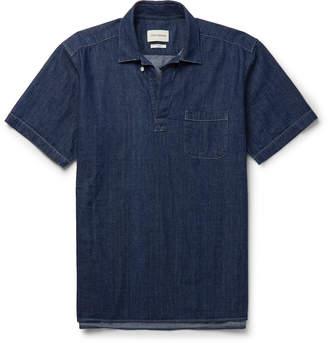 Oliver Spencer Yarmouth Denim Half-Placket Shirt