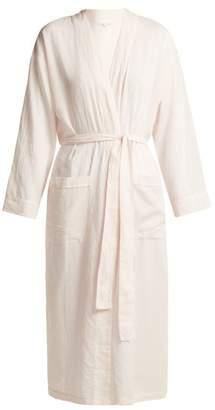 Pour Les Femmes - Long Cotton Robe - Womens - Light Pink