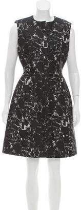 Balenciaga Sleeveless Jacquard Dress