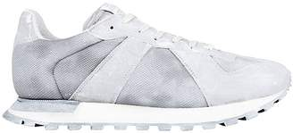 Maison Margiela Sneakers Men's Sneakers Replica In Mesh With Worn Effect And Leather
