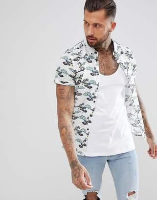 Blend of America short sleeve shirt in surf print