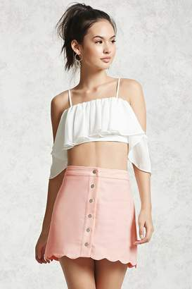 FOREVER 21+ Buttoned Mini Skirt $22.90 thestylecure.com