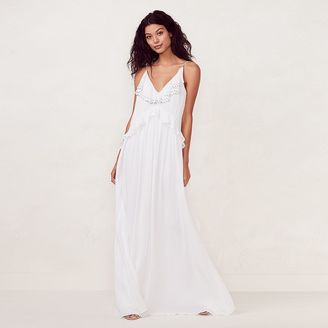 Women's LC Lauren Conrad Ruffle Maxi Dress $68 thestylecure.com