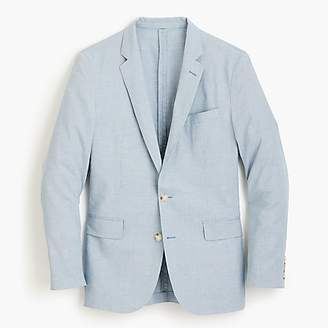 J.Crew Ludlow Slim-fit unstructured suit jacket in houndstooth cotton-linen