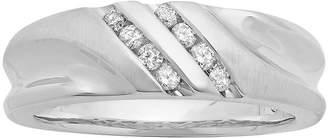 JCPenney MODERN BRIDE Mens 1/4 CT. T.W. Diamond 10K White Gold Slant Wedding Band