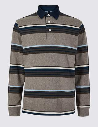 Marks and Spencer Pure Cotton Striped Rugby Top