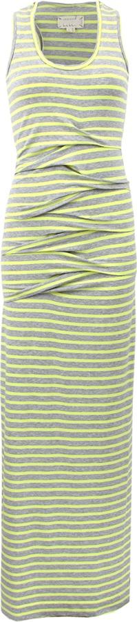 Nicole Miller Sleeveless Scoopneck Stripe Ruched Dress