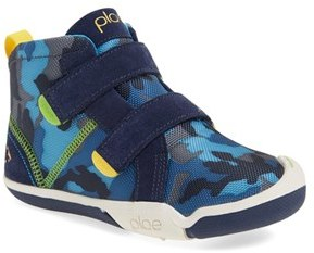 Toddler Boy's Plae 'Max' Customizable High Top Sneaker $59.95 thestylecure.com
