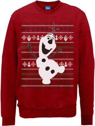 Disney Frozen Christmas Olaf Dancing Red Christmas Sweatshirt