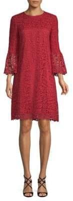 Lafayette 148 New York Sidra Lace Bell-Sleeve Shift Dress