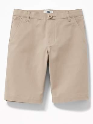 Old Navy Built-In Flex Twill Straight Uniform Shorts for Boys