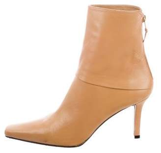 Stuart Weitzman Leather Pointed-Toe Boots