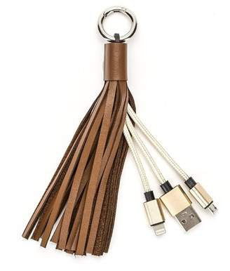 Lacasa IGIA High Quality USB Leather Tassel Key Chain Charging Cable For Smartphones