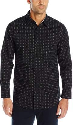 Geoffrey Beene Men's Printed Poplin Woven Shirt