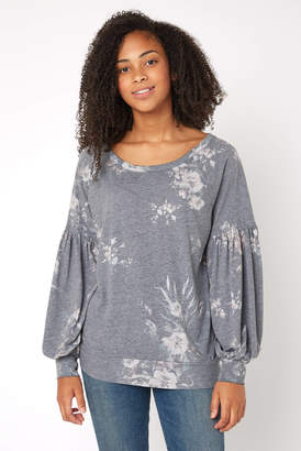 Chaser Floral Billow Sleeve Pullover