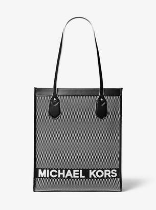 MICHAEL Michael Kors Bay Large Woven Canvas Tote Bag