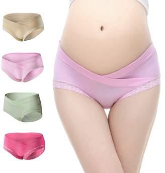 Slimart Uniwit® 4 PCS Cotton Maternity Pregnant Mother Panties Lingerie Briefs Underpants